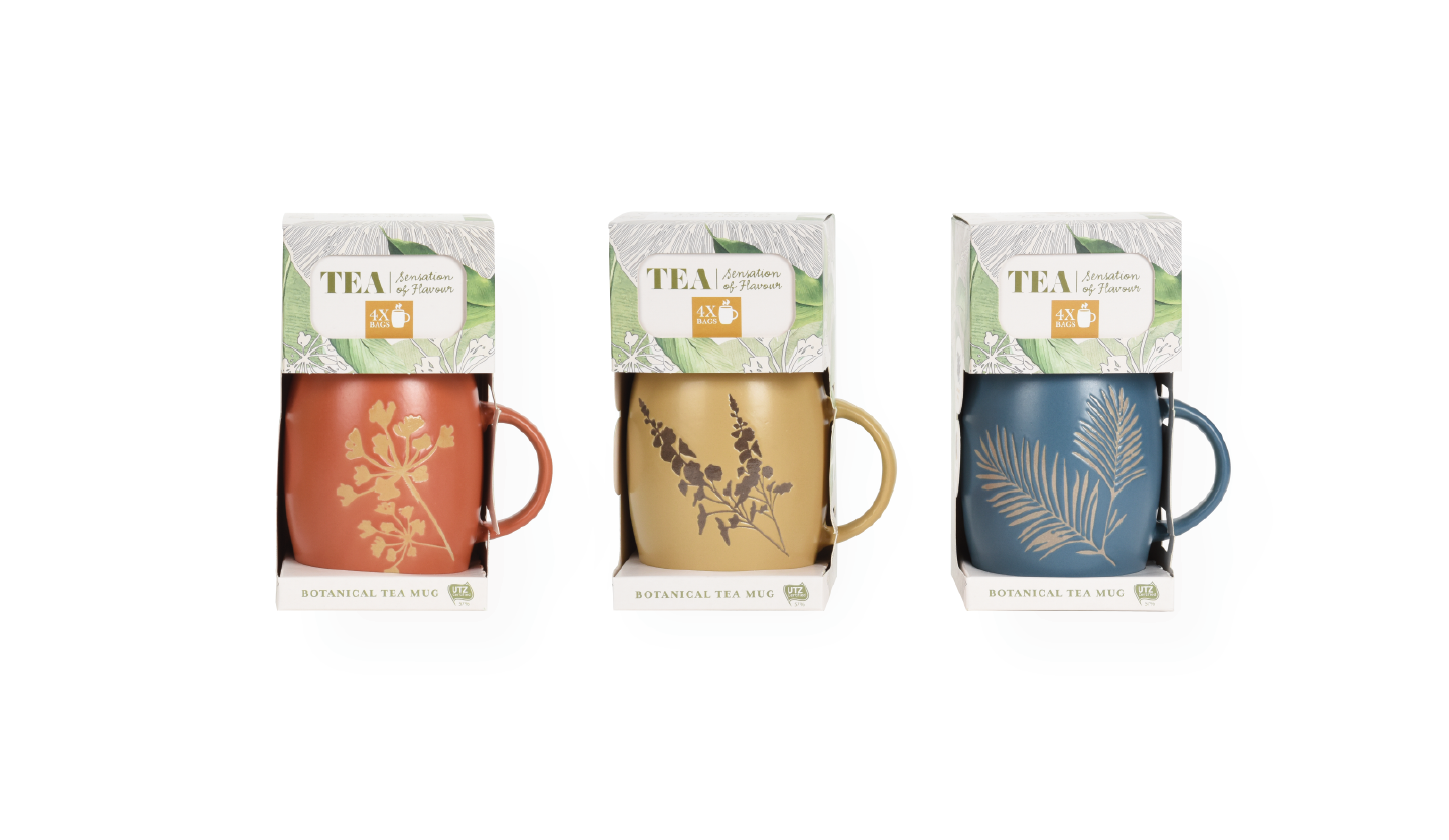 botanical tea mug