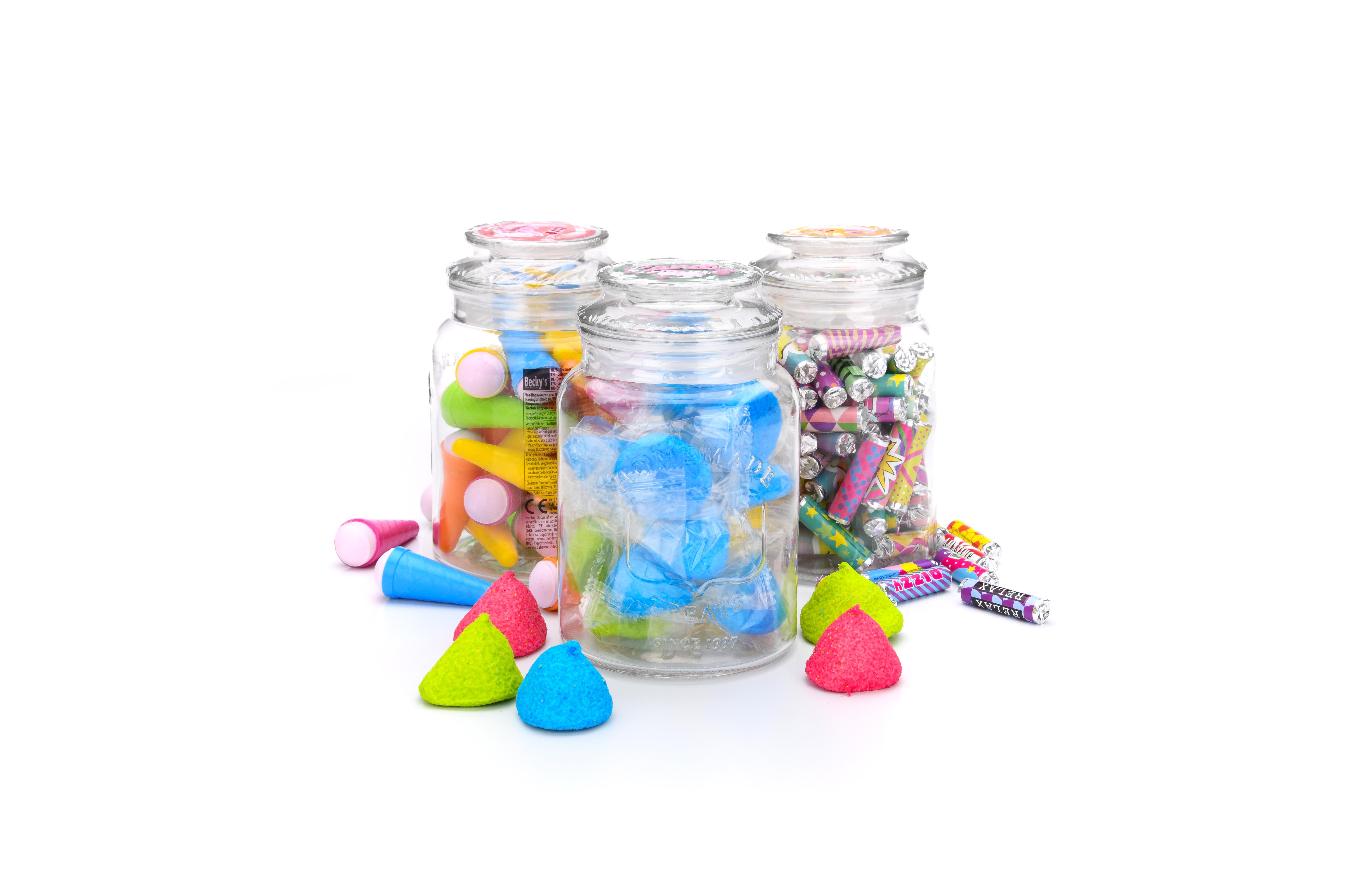 big candy glass jar