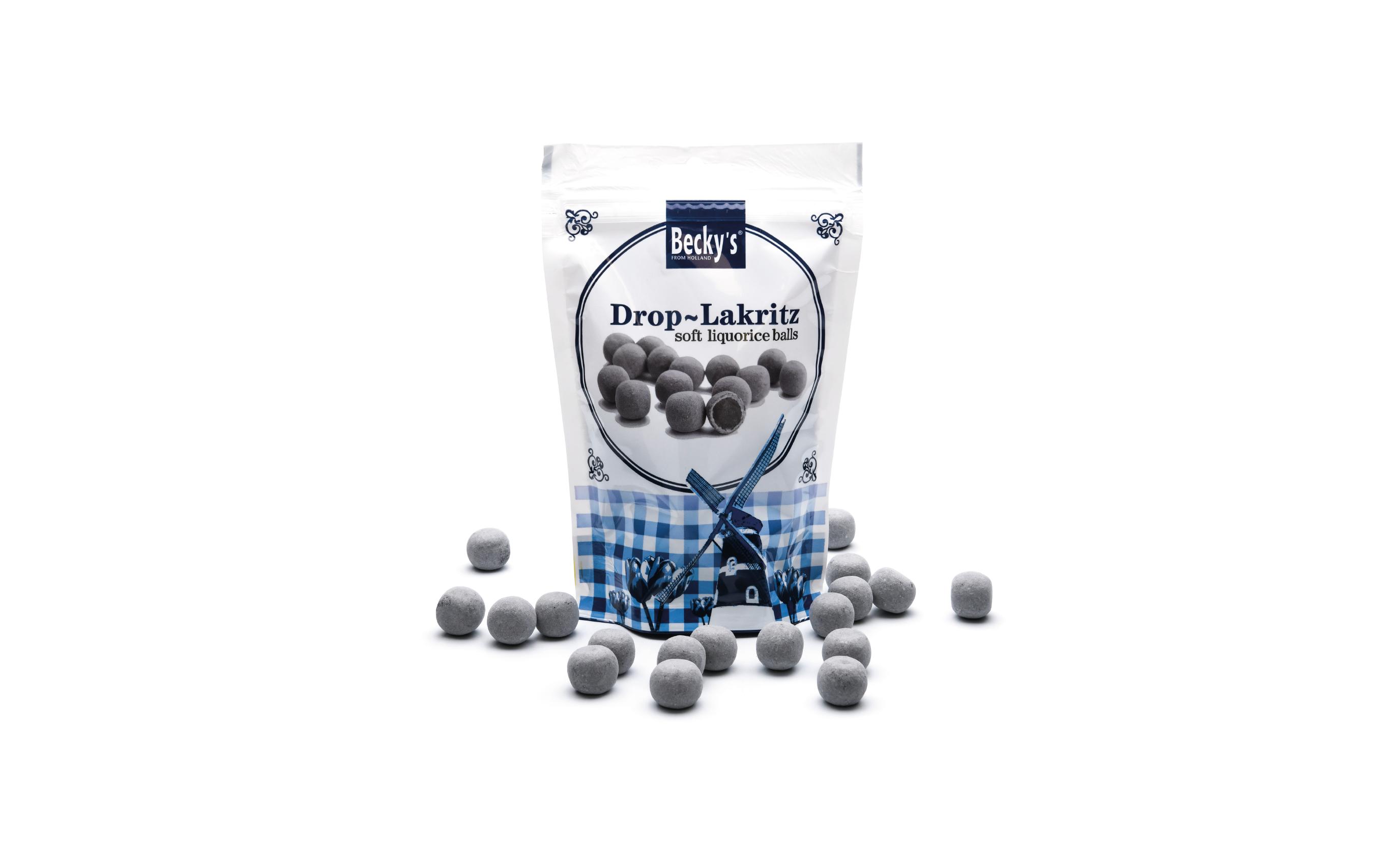 Soft liquorice balls